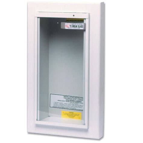 semi recessed fire extinguisher cabinet view larger