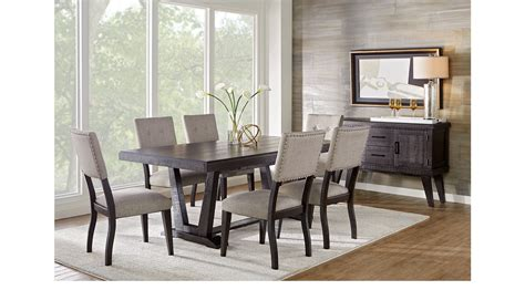 black dining room sets hill creek black 5 pc rectangle dining room rustic