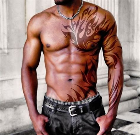 upper body tribal tattoos 37 inspirational chest tattoos for tattoos beautiful