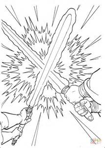 Lightsaber Duel Coloring Page Free Printable Coloring Pages Lightsaber Coloring Pages