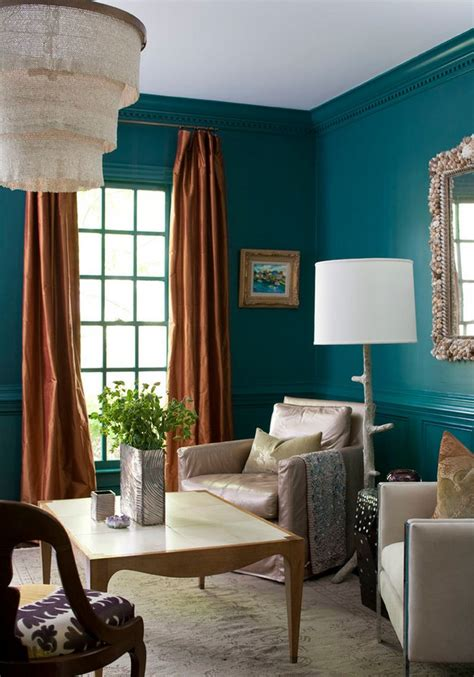 teal livingroom painting and design tips for dark room colors