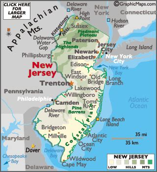 america map new jersey new jersey map geography of new jersey map of new