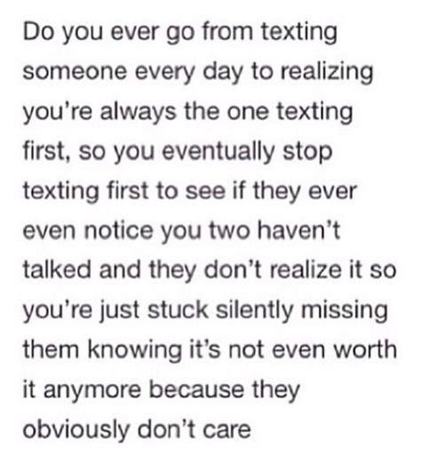 texting  everyday  realizing