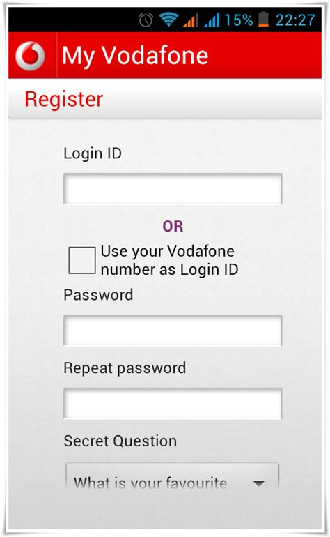 vodafone mobile account login vodafone india my account images