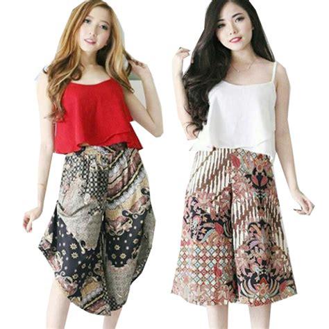 Knee Cullote Celana Kulot Selutut batik cullote skirt skort kulot batik rok batik kantor bawahan batik celana batik