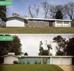 Midcentury Modern Kitchen - alesha restores the original 1961 exterior paint colors on her midcentury modern ranch house