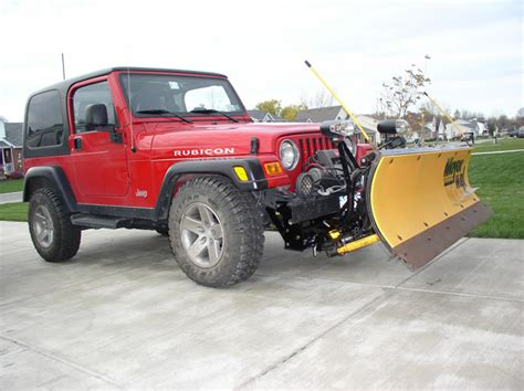 Plow Jeep Plowing With A Jeep Wrangler Rubicon Trail Ride