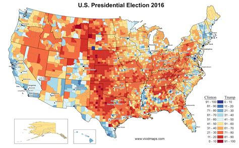 usa election map 2016 u s presidential election results in three maps