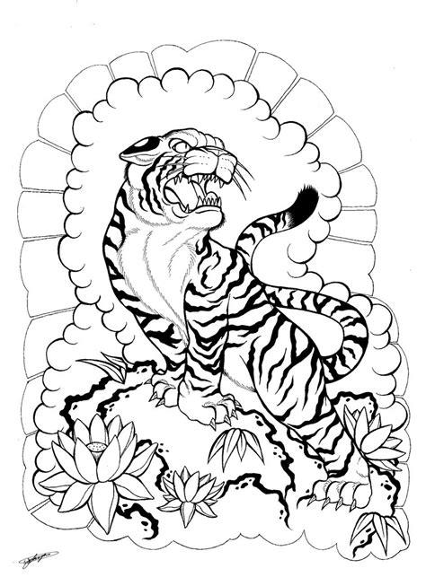 Tattoo Japanese Outline | japanese tiger tattoo outline www pixshark com images