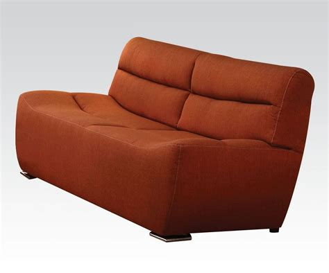 tight back leather sofa tight back leather and s ultra modern orange linen finish