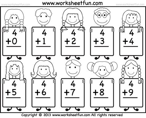 printable free kindergarten math worksheets free printable math worksheets for kindergarten addition 1