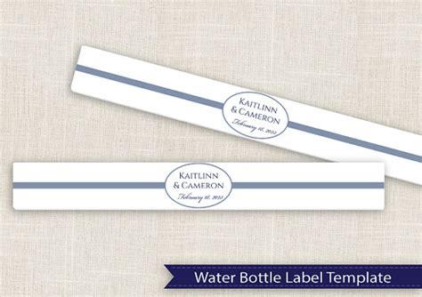 Diy Water Bottle Label Template For Avery 174 22845 By Karmakweddings Diy Water Bottle Label Template