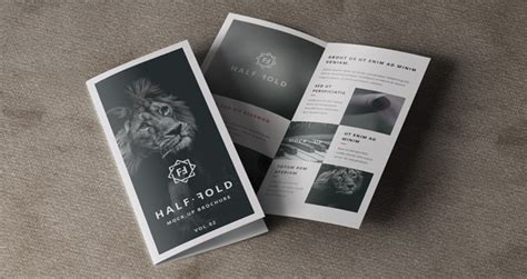 2 fold brochure template psd psd bi fold mockup template vol2 psd mock up templates