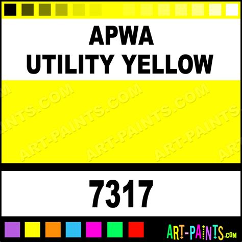 paint colors for utilities apwa utility yellow contractor water based spray paints