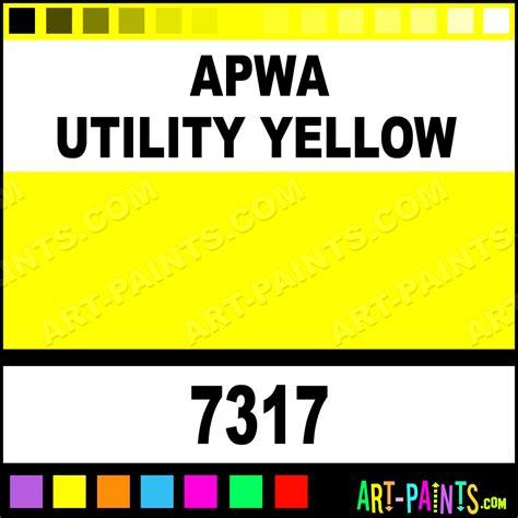 apwa utility yellow contractor water based spray paints 7317 apwa utility yellow paint apwa