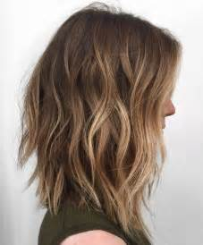 choppy lob haircut 10 balayage hairstyles for shoulder length hair medium