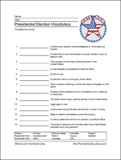 Presidential Cabinet Worksheet by Presidential Election Worksheets Social Studies