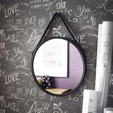 Beautiful Salle De Bain Sol Noir  #7: Miroir-barbier-noir-l-53-x-h-53-cm.jpg