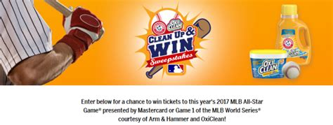 World Series Sweepstakes 2017 - clean up and win sweepstakes enter online sweeps howldb