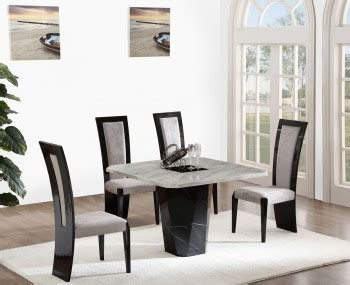 Marble Effect Dining Table And Chairs Calabria Brown And Marble Dining Set
