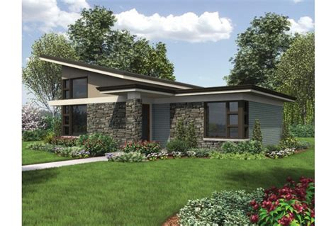 Modern One Bedroom House Plans Eplans Contemporary Modern House Plan Compact One Bedroom Contemporary Ideal For Micro Living