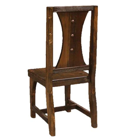 barnwood horseshoe side chair with nailheads