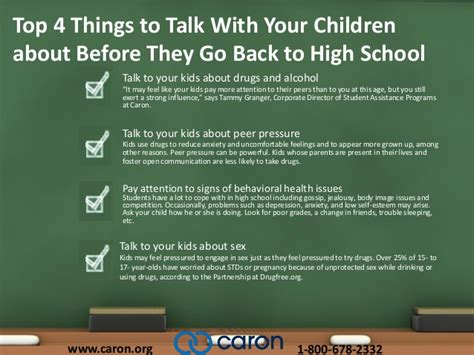 top 4 things to talk with your kids about before they go
