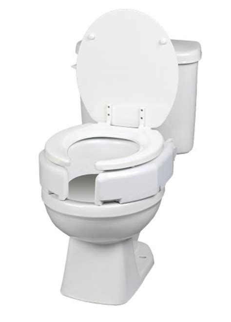 elevated toilet seat elongated picture of ableware 725680001 secure bolt hinged elevated