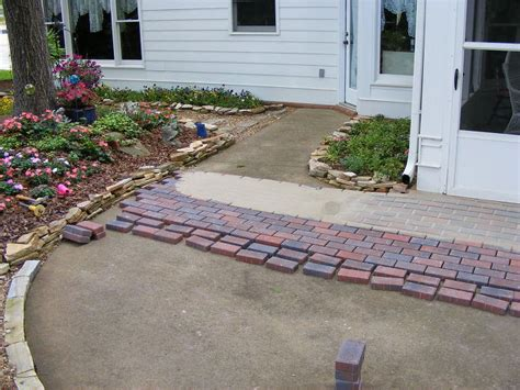 Adding Pavers To Concrete Patio Installing Pavers Your Existing Patio Is A Great Way To Change The Look Of Your Outdoor