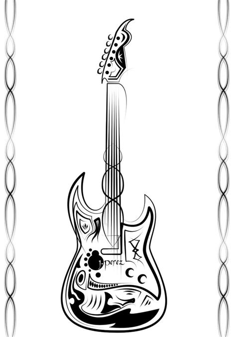 tribal guitar tattoos my 1st tribal guitar by devilanonymous on deviantart