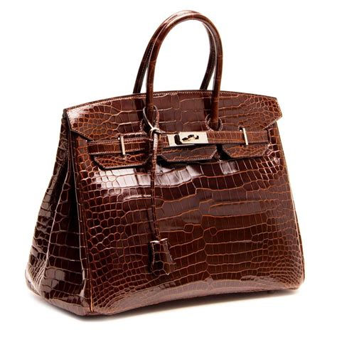 Hrms Birkin Croco 06 herm 232 s birkin brown shiny croco bag 35 cm for sale at 1stdibs