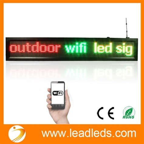 Led Running Text Outdoor outdoor waterproof running text line wifi programmable led sign multicolor send message by