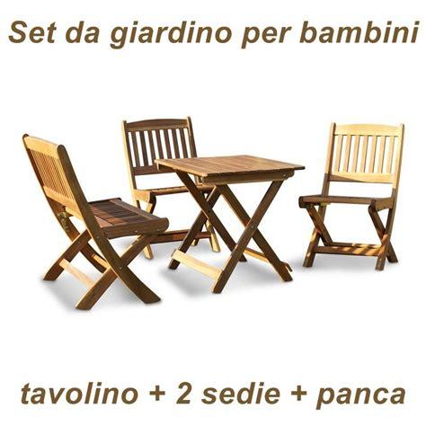 tavolino e sedia per bambini tavolino sedie e panca in legno da giardino per bambini