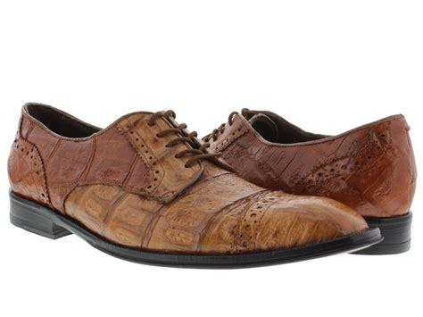 s dress shoes brown genuine crocodile alligator skin
