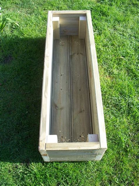 Pressure Treated Wood For Planter Boxes by 1000 Ideas About Deck Planters On Deck