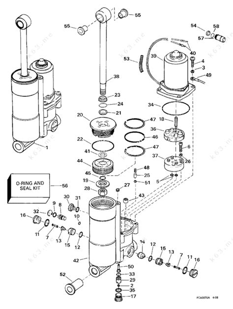 Evinrude 1998 40 Be40tlecr Power Trim Tilt Parts Catalog