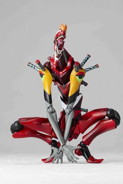 Kaiyodo Xebec Evangelion Unit 02 Figure Neon Genesis kaiyodo revoltech yamaguchi no 090 neon genesis evangelion unit 02 beast mode second stage the
