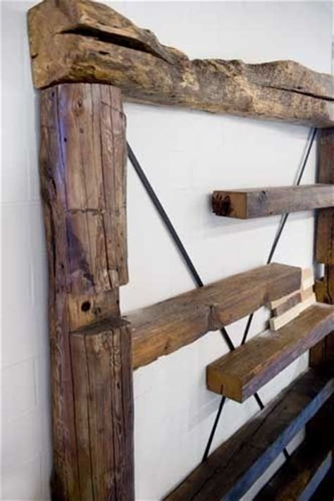 custom made reclaimed wood wall shelf by union square