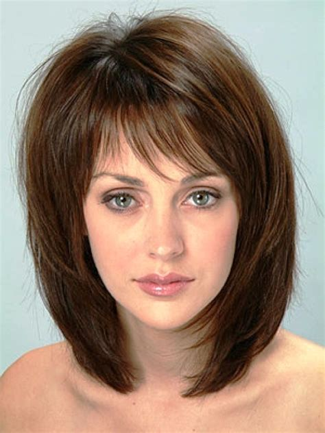 new hairstyles for thin medium length hair big forehead medium length hair styles for older women for the middle