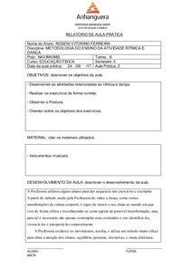 MODELO DE RELATÓRIO DE AULA PRÁTICA v2 EDUCAÇÃO FÍSICA - Filos