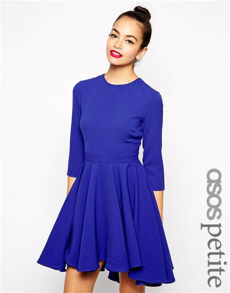 Dipped Hem Dresses by Asos Skater Dress With Dipped Hem Skirt And 3 4