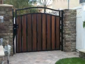 wood and metal custom gate wrought iron pinterest