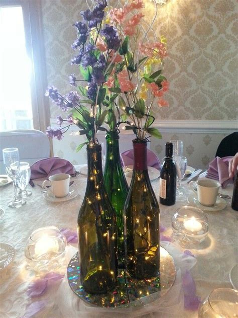 wine bottle table l wine bottle centerpiece ideas newhairstylesformen2014 com