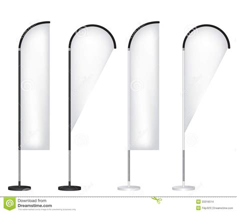 blank banner flag stand stock images image