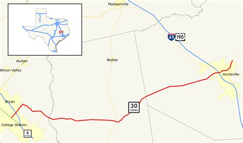 texas fm road map texas state highway 30