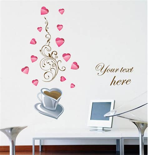 wall sticker writing free shipping home decorative mural decal vinyl wall sticker writing your pink