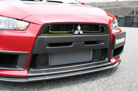 Grill Lancer Evo 5 Racing chargespeed carbon inner grill mitsubishi evo x 08 12