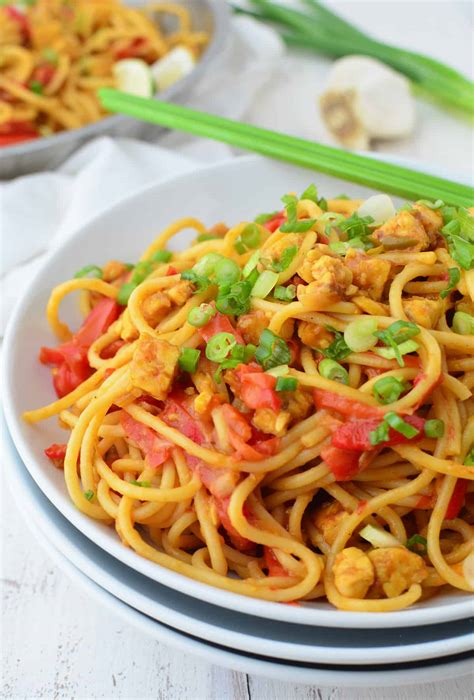 My Favorite Curry Noodles by Vegan Curry Noodles Delish Knowledge