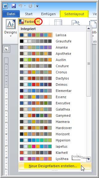 Word Designvorlage Erstellen Word Eigene Schriftfarbe Dauerhaft Speichern 187 Wintotal De