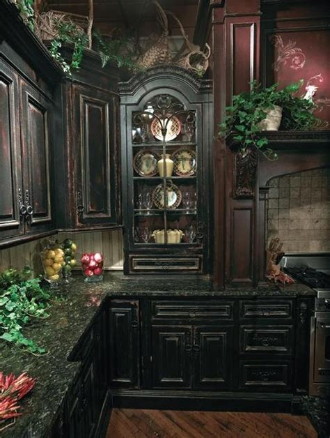 dark home decor 20 refined gothic kitchen and dining room designs digsdigs